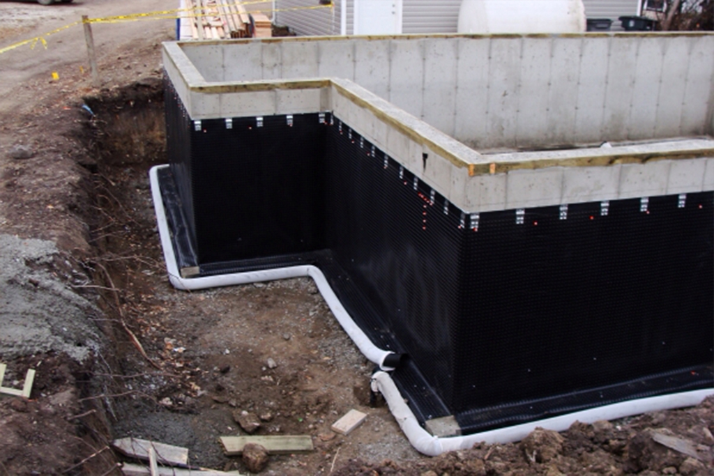 Waterproofing the foundation