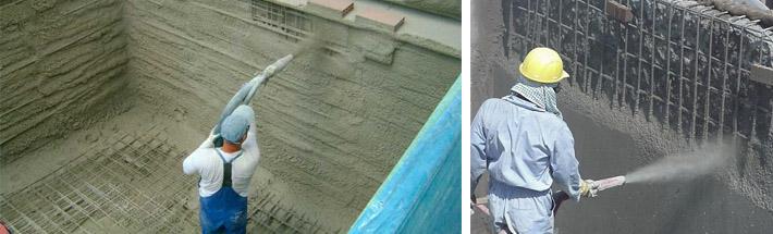 Ремонт и торкретирование бетона
