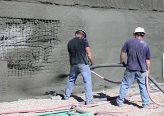 Торкретирование универсальным ремонтным строительным составом для ремонта ГіСіВ Т