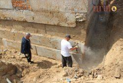 Подготовка до работ по гидроизоляции (очистка фундамента)