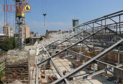 Работы по восстановления и укрепления кирпичных арок и стен в здании, которое является памятником архитектуры