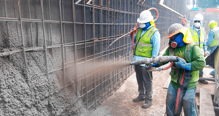 Услуги по торкретированию бетона