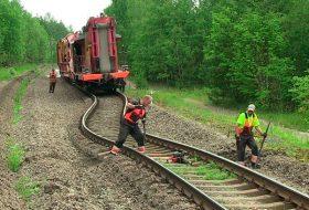 Нарушение геометрии железнодорожного полотна