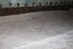 Укладка бентонитового мата