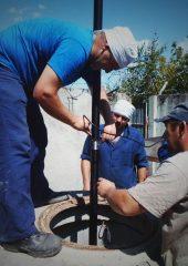 Ремонтные работы по устранению протеканий поврежденного участка  скважины