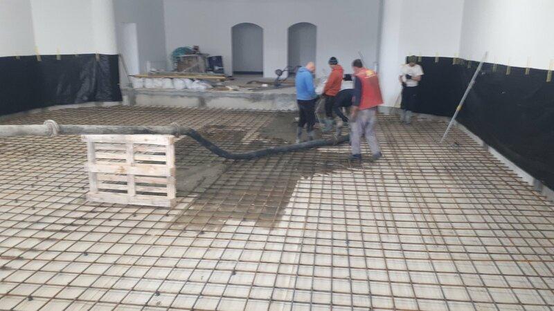 Заливка бетонной смесью бентонитовых матов CEMtoben CS-Plus