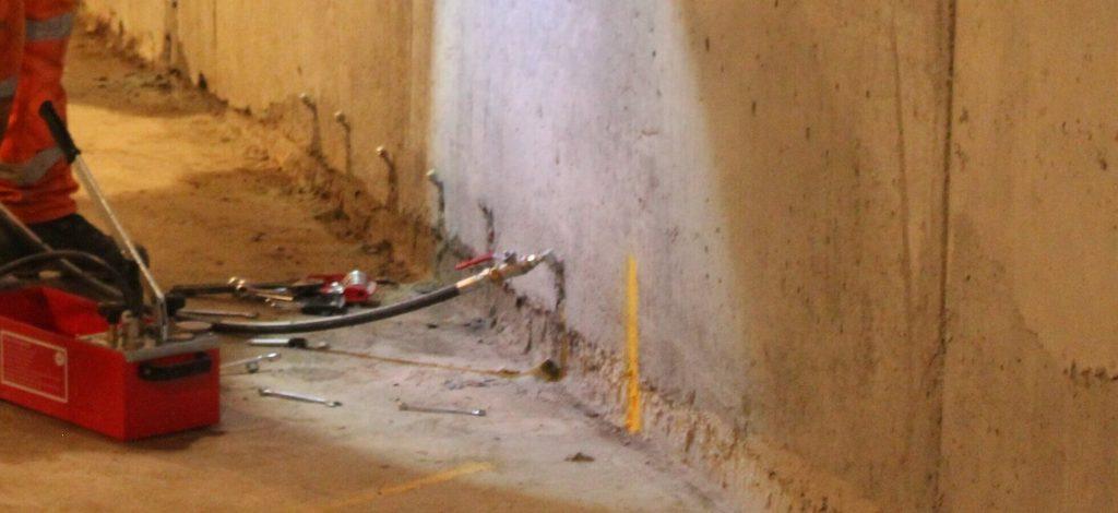Работы по инъекционной гидроизоляции в Киеве