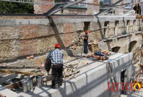 Укрепление кирпичной стены Запорожье