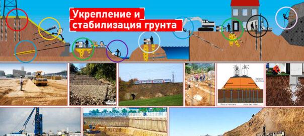 Укрепление и стабилизация грунтов (укрепление склонов, береговых линий водоемов)