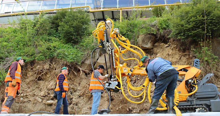 Укрепление и стабилизация грунта (укрепление склонов, береговых линий водоемов, инженерная защита)