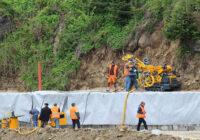 Укрепление и стабилизация грунта склона